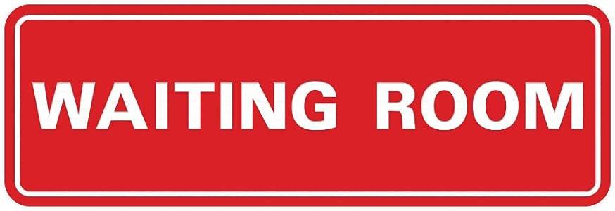 """标准等候室门/墙壁标志 2-3/4"""" x 7"""" - Medium 红色"""