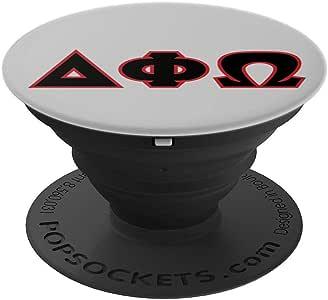 希腊字母 - 三角形、Phi 和 Omega PopSockets 手机和平板电脑握柄支架260027  黑色