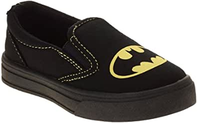 Batman Boys 帆布一脚蹬运动鞋 (8)