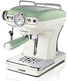 Ariete/阿里亚特意式半自动家用咖啡机泵压式复古咖啡机 1389 (绿色)
