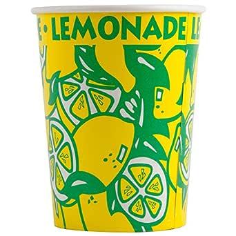 Perfect Stix LCL32-40 方形纸柠檬水杯带盖,32 盎司 (40 个杯子,吸管和盖子)(40 个装)