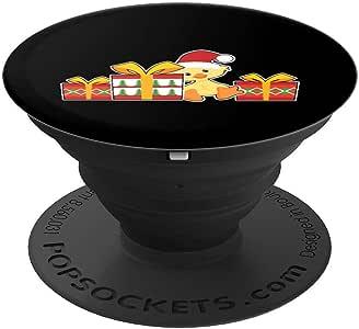 Baby Duck with Presents – 可爱的鸭子圣诞 PopSockets 手机和平板电脑握架260027  黑色