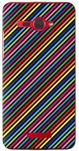 YESNO 彩虹条纹 黑色(软质TPU透明) / for HTC J butterfly HTL21/au AHTL21-TPCL-701-Q081
