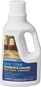 Once'n Done 弹性陶瓷地板清洁剂浓缩液 32 盎司防冲洗无蜡新套装 32 盎司 S-338-QT