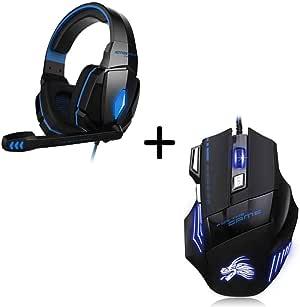 Shot Case 华为 PC 游戏套装(6 键游戏鼠标 + 带麦克风和遥控游戏耳机)
