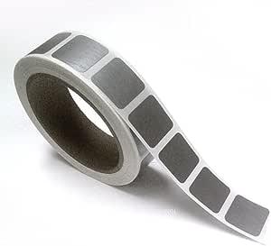 2.54 cm x 2.54 cm 银色方形刮痕标签贴纸,专为打造您自己的刮痕卡片、格栅、促销、乐趣、游戏等。 1000