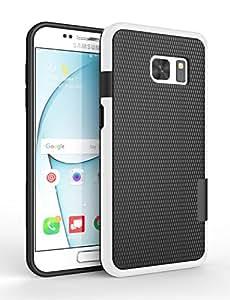 Galaxy S7 手机壳,Zectoo 混合冲击超薄坚固保护壳 可爱 女式 女孩 柔韧 强度 防滑 外壳 适用于三星 Galaxy S7 S VII G930 GS7 黑色