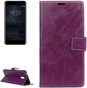 alsatek 保护套 PU 皮革适用于 Nokia 6 主题紫色效果皮肤复古