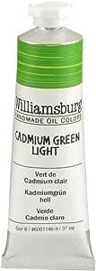 Williamsburg 油画 Cadmium Green Light 37 Ml Tube WB60011469