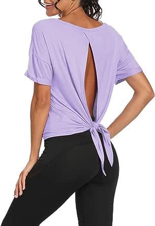 Bestisun 女士性感瑜伽背心无袖系带运动衬衫