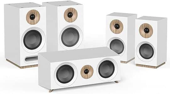 Jamo S 803 HCS 5.0 频道白色扬声器套装 - 扬声器套装(5.0 声道,家庭影院,交流电)