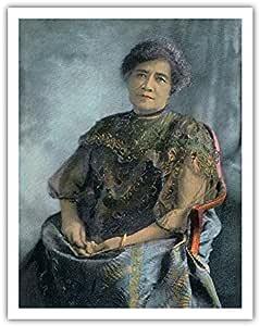 "Pacifica Island Art Queen Lili'uokalani (Liliuokalani) of Hawai'i (1838-1917) - Island Curio Co, Honolulu - 复古夏威夷手工彩色明信片 c.1893 - 夏威夷精美艺术印刷品 11"" x 14"" APB1422"