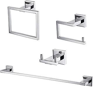 KES SUS 304不锈钢4件套浴室配件套装 rustproof 墙上支架拉绒饰面 la24-p