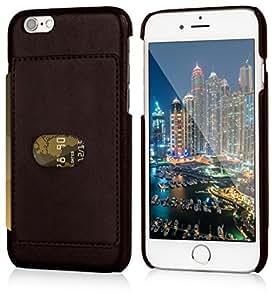 Lockwood iPhone 6/6s 卡扣式钱包手机壳   带卡夹旅行钱包   超薄轻质设计   现代设备的经典手机壳   (4.7 英寸屏幕)  PU 皮革4326539036 深棕色