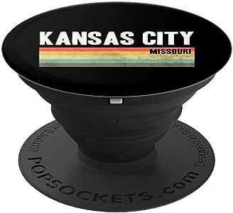 KCMO 堪萨斯城手机握把礼物 - PopSockets 手机和平板电脑握架260027  黑色
