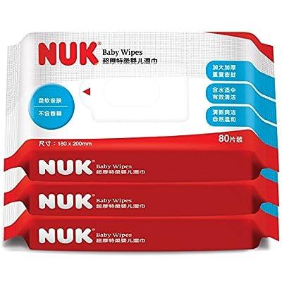 德国 NUK 超厚特柔婴儿湿巾 3联包(80片X3包)