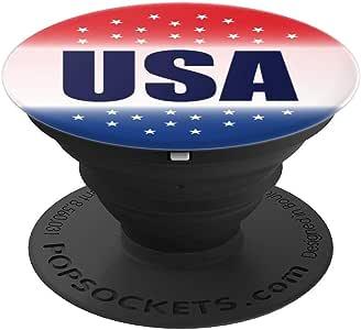 美国爱国者红白蓝色国旗美国投票 2020 礼物 - PopSockets 手机和平板电脑握架260027  黑色
