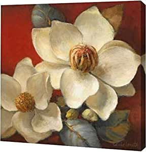 "PrintArt GW-POD-34-7227-30x30""Magnolia Passion II"" Lanie Loreth 画廊装裱艺术微喷油画艺术印刷品,76.20 cm x 76.20 cm"