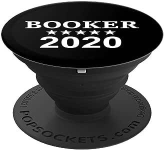 Cory Booker 2020 President Stars PopSockets 手机和平板电脑握架260027  黑色