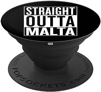 Straight Outta Malta 手机握把礼物 创意爆米袜 手机和平板电脑260027  黑色