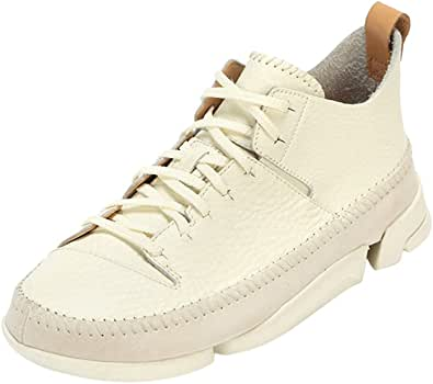 ClARKS 男鞋 白色 UK9.5 TRIGENIC FLEX (亚马逊自营 香港直邮)
