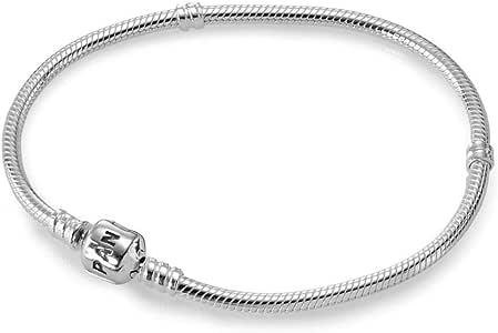 Pandora 潘多拉 纯银手镯 带弹簧拉钩 银色 女款 590702HV-19 19cm