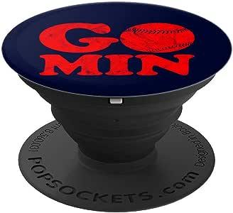 Go Min 明尼苏达州明尼阿波利斯棒球 PopSockets 手机和平板电脑握架260027  黑色