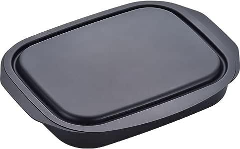 和平Freiz 烤盘 烤 蒸汽 加热 Lanchni 方形 17×22厘米 带盖 铁RA-9505