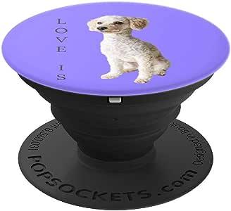 玩具贵宾犬衬衫 女式 男式 孩子 狗 妈妈 爸爸 爱宠 礼物 T 恤 PopSockets 抓地力和支架 适用于手机和平板电脑260027  黑色