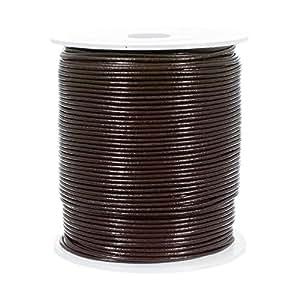 25 码圆形皮革绳多色可选 - 直径 1.5、2、3mm 红棕色 1.5mm 25Y X RNDLTHR15-RDBRWN-~CRAFT_TS72318
