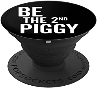 Be The 2nd Piggy 衬衫 Second Pig Stayed Home Distancing PopSockets Grip and stand for phone and Tablet260027  黑色