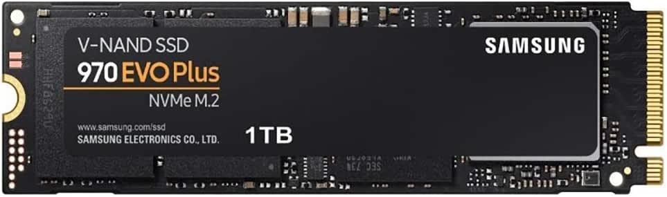 Samsung 三星 970 EVO Plus 250 GB m.2 内置NVMe SSD 高达3,500 MB/s 固态硬盘MZ-V7S1T0BW  1 TB