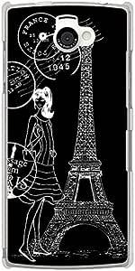 CaseMarket docomo AQUOS PHONE si (SH-07E) 聚碳酸酯 透明硬壳 [ 埃菲尔铁塔 收藏 Shoping ]