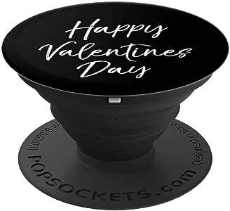 可爱的情人节套装,女士快乐情人节,PopSockets 手机和平板电脑用支架。260027  黑色