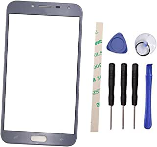 外屏玻璃镜片替换件适用于 Galaxy J4 J400 J400F J400DS J400G 2018 5.5 英寸(非 LCD 和非数字化器) 蓝色