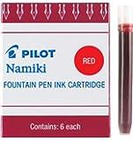 Pilot Namiki IC50 钢笔墨盒 6片装 红色