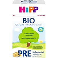 HiPP 喜宝 奶粉 Pre段 Bio认证 初生婴儿奶粉,4罐装(4 x 600g)