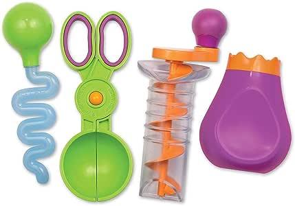 Learning Resources 沙子& 水精细运动套装, 结构玩具 , 4 件装, 3岁以上