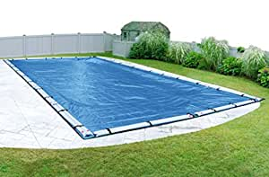 Pool Mate 541624R Econo-Mesh Winter Cover for In-Ground Swimming Pool Caribbean Blue 30 x 50-Foot Pool