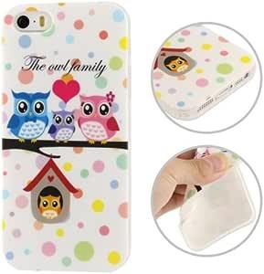 alsatek Tpu 硅胶保护壳 适用于 iPhone 5/5S 猫头鹰家族
