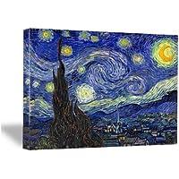 Wieco 艺术油画印刷品,有弹性和镶框,巨大帆布印刷经典梵高复制品,60.96 厘米 x 81.28 厘米 Starr…
