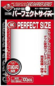 Perfect Barrier Card Sleeves (100 Piece), Clear, 92 x 66mm