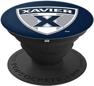 Xavier University 可折叠握把和支架 PPXVU058 - 适用于手机和平板电脑的 PopSockets 握把和支架260027  黑色