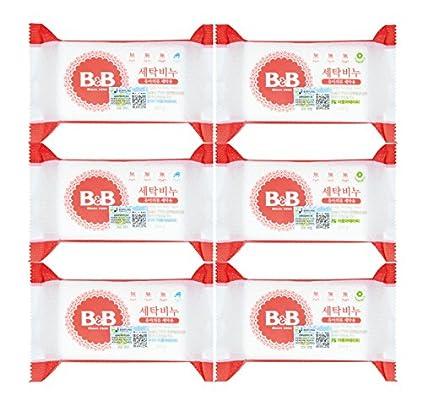 韩国 B&B 保宁 洗衣香皂(洋槐香型200g*3+甘菊香型200g*3)组合装