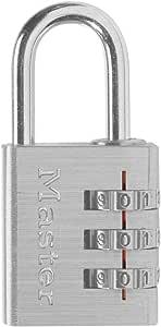 Master Lock 630D Luggage Lock, Brushed Aluminum, 1-3/16-inch Wide