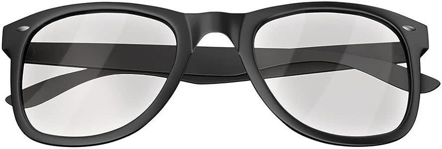 Mars Gaming MGL1 - 电脑眼镜(男女通用、椭圆形、经典、透明、聚碳酸酯、黑色)