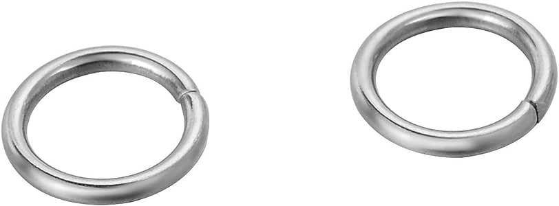 VALYRIA 500 件银色不锈钢开口弹簧圈 用于珠宝制作 银色调 3mmx0.5mm VALYRIAWBB98566