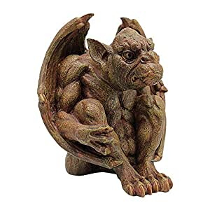 Design Toscano Balthazars Watch Gargoyle Sculpture 棕色 Medium
