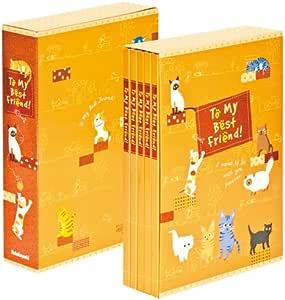 仲林 5本一组 口袋相册 猫和狗 L 红色