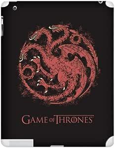 Zing Revolution Game Of Thrones Premium Vinyl Adhesive Skin for iPad 2/3 - Targaryen S2 Black (MS-GOT350351)